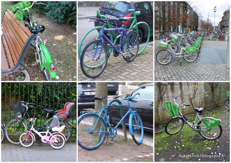 02-rowery w Strasburgu Alzacja Francja