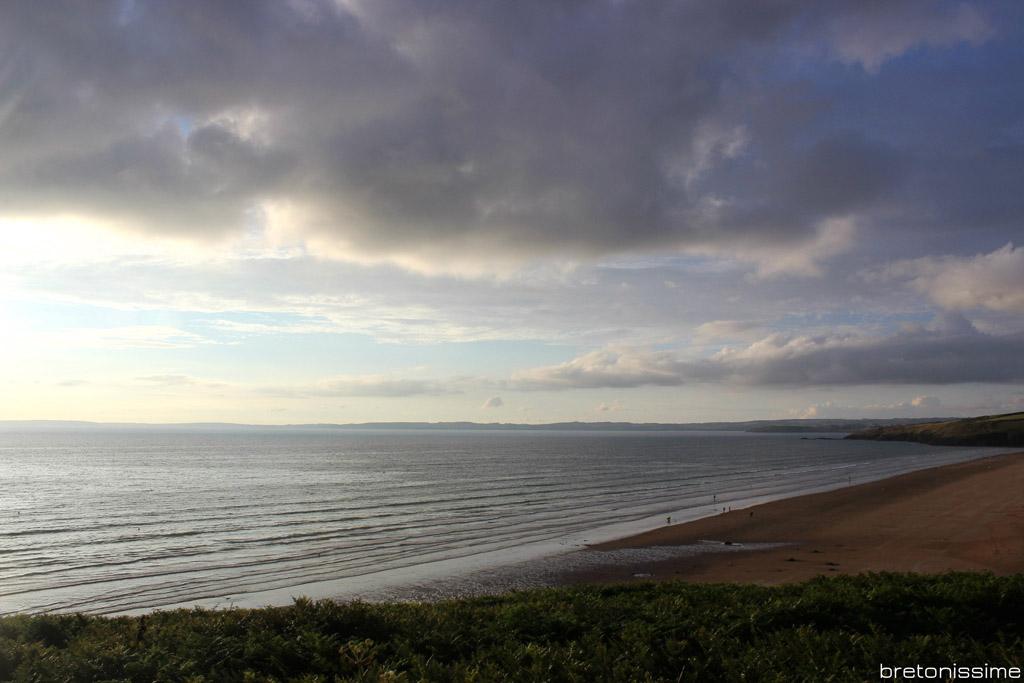 Bretania, ocean (la Baie de Douarnenez widziana z Kerlaz)