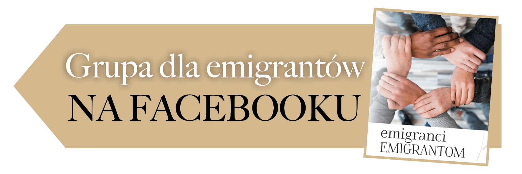 Baner grupa na facebooku Emigranci Emigrantom